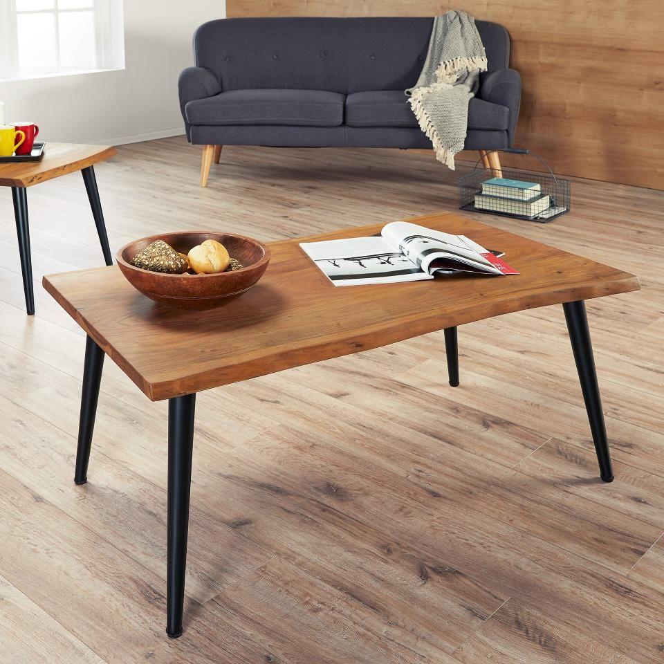 Couchtisch Okslund 60x110 Akazie Lackiert Couchtisch Tisch Wohnzimmer Gemutlich