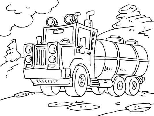 Tanker Truck Coloring Page Loads More Trucks And Cars To Chose From At Http Www Coloringpages4u Com