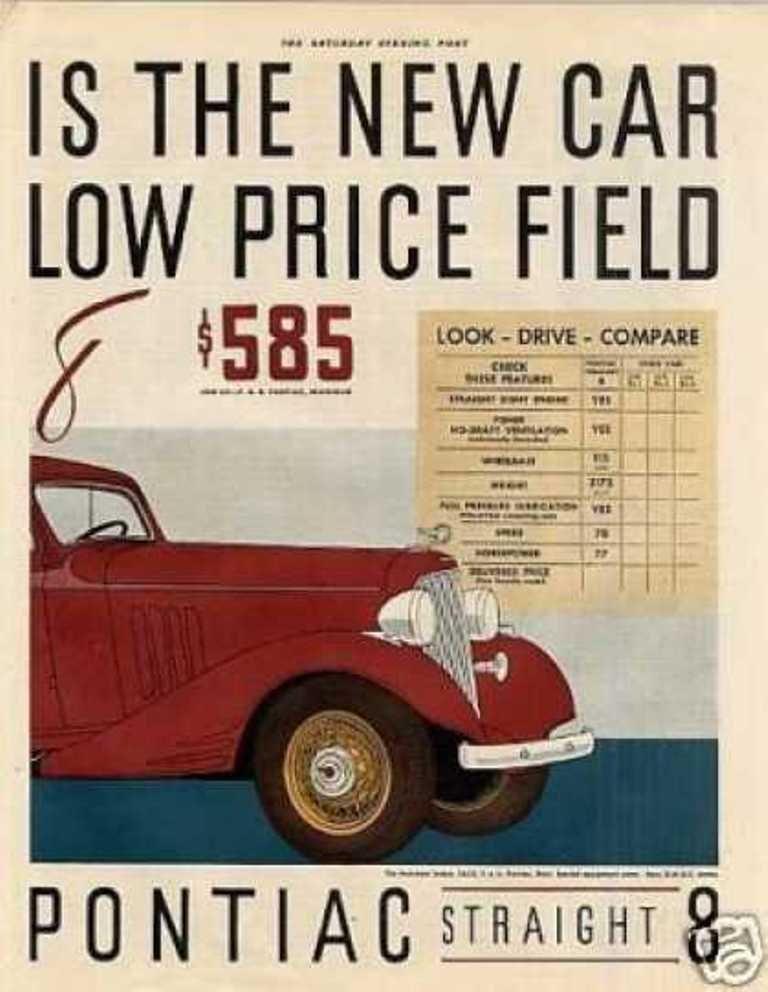 1940-49 Original Print Ad 1946 New Pontiac 2 Door Sedan Gm Silver Streaks Auto