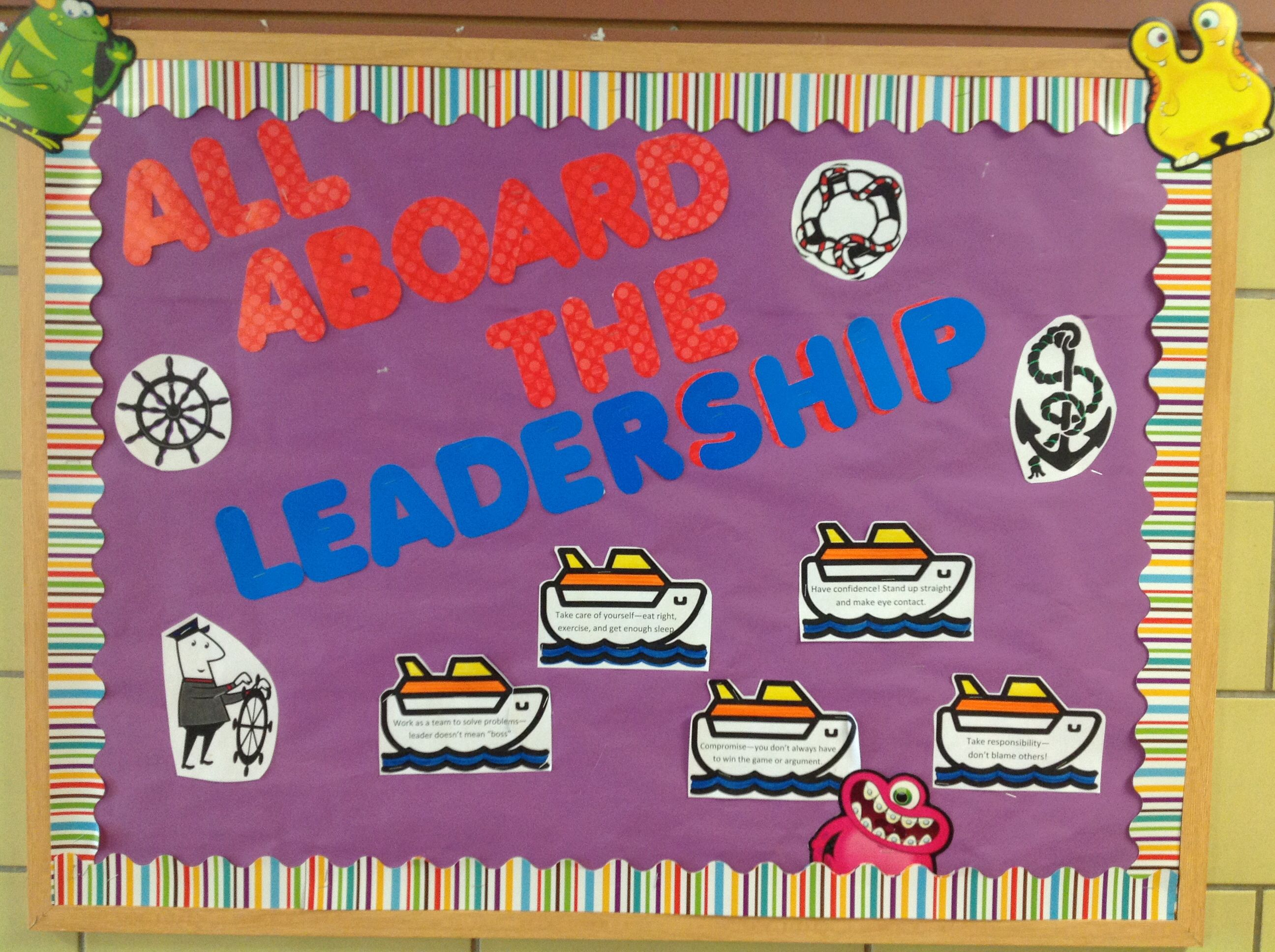 Leadership Bulletin Board - School Counseling Monthly