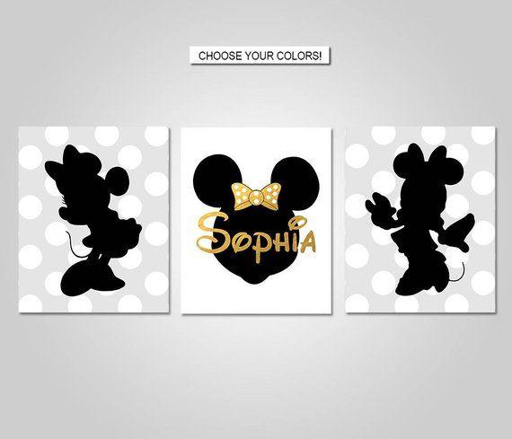 Best Minnie Mouse Nursery Bedroom Wall Art Minnie Wall Decor 400 x 300