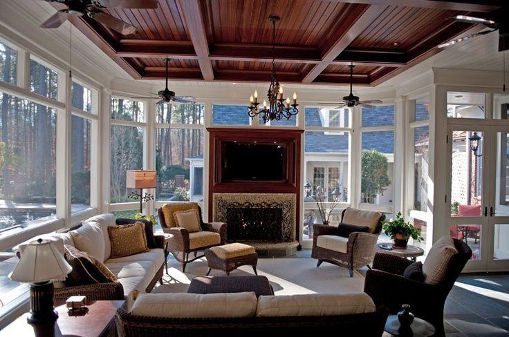 4 Season Rooms Designs Great Room Or 4 Season Porch Renovation Interior Design House With Porch Home My Home Design