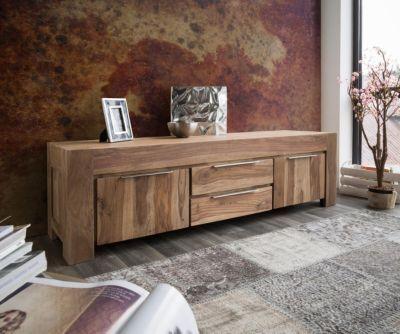 Fernsehtisch Colombe Sheesham Natur 200 cm 2 Türen Massivholz - wohnzimmer tv möbel