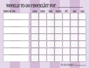 Old Fashioned image regarding weekly chore chart printable
