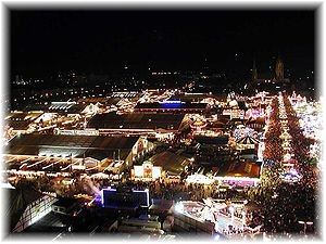 picture of Munich Oktoberfest at Night