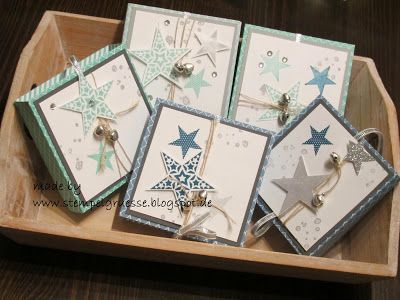 stampin up kartenbox adventskranz to go simply stars. Black Bedroom Furniture Sets. Home Design Ideas