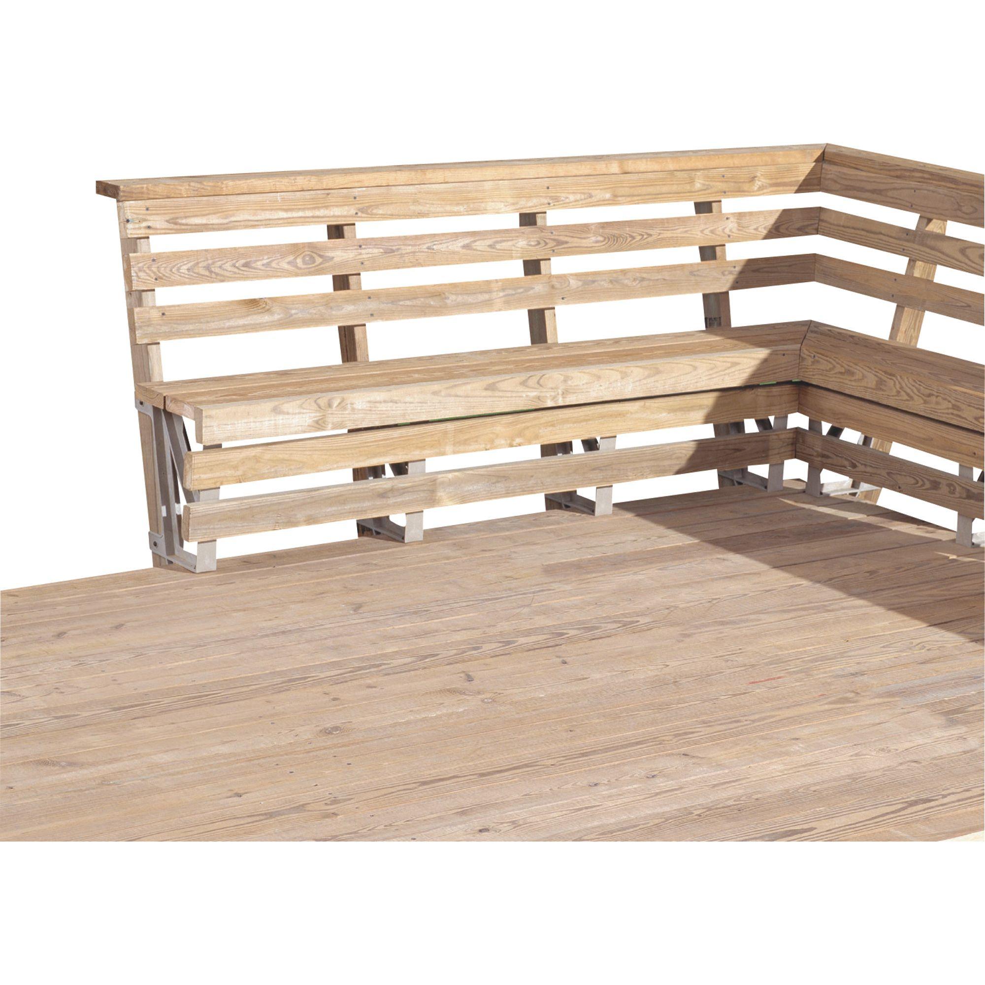 X basics deck bench brackets u sand pk model in