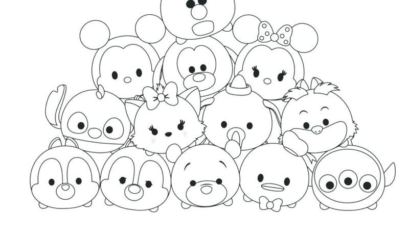 Cute Tsum Tsum Coloring Pages Free Coloring Sheets Tsum Tsum Coloring Pages Cute Coloring Pages Coloring Pages