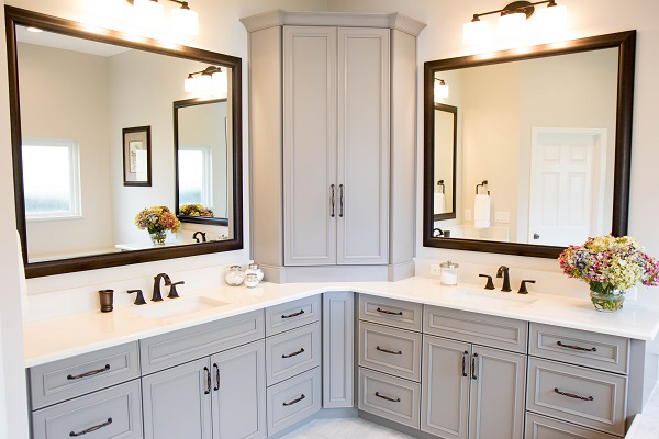 Custom Orlando Bathroom Remodeling Company Kbf Design Gallery Corner Bathroom Vanity Small Bathroom Decor Bathroom Remodel Master