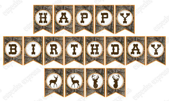 picture about Camo Printable identified as Seeking Birthday celebration, Deer birthday, Looking birthday