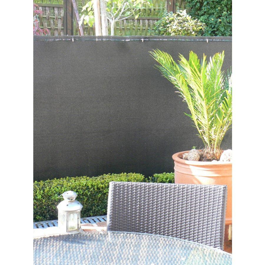 Brise Vue 100 1x3m Noir Ideal Garden Ideal Garden Chez Mr Bricolage