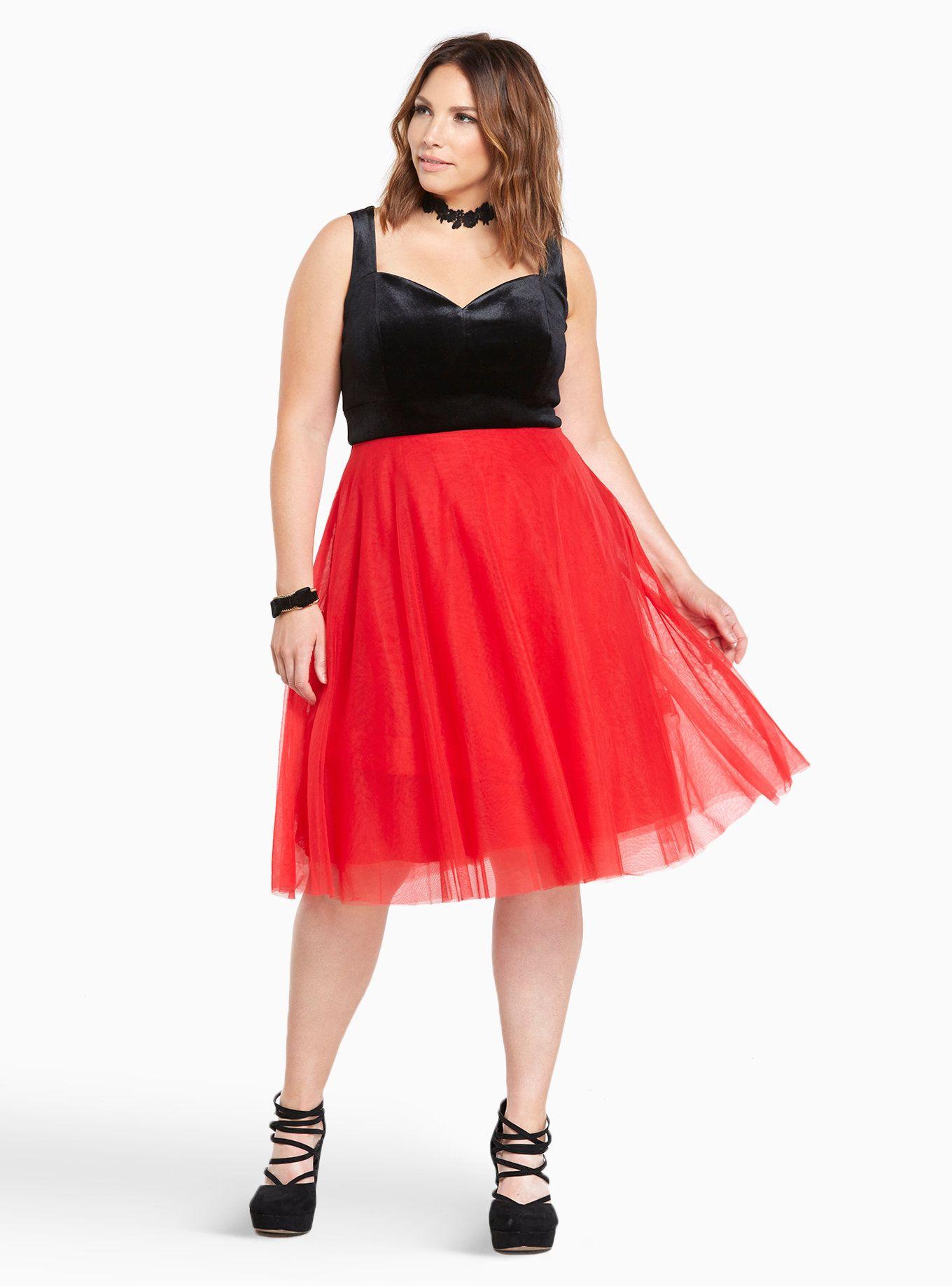 Velvet tulle midi dress red tulle skirt midi dresses and tulle skirts
