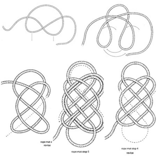 fussmatte knoten seil selber machen anleitung design weaving pinterest knots macrame and. Black Bedroom Furniture Sets. Home Design Ideas