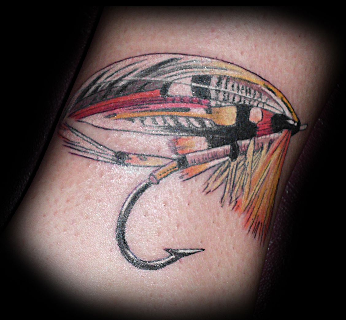 Fishing fly tattoo | flyfishing | Pinterest