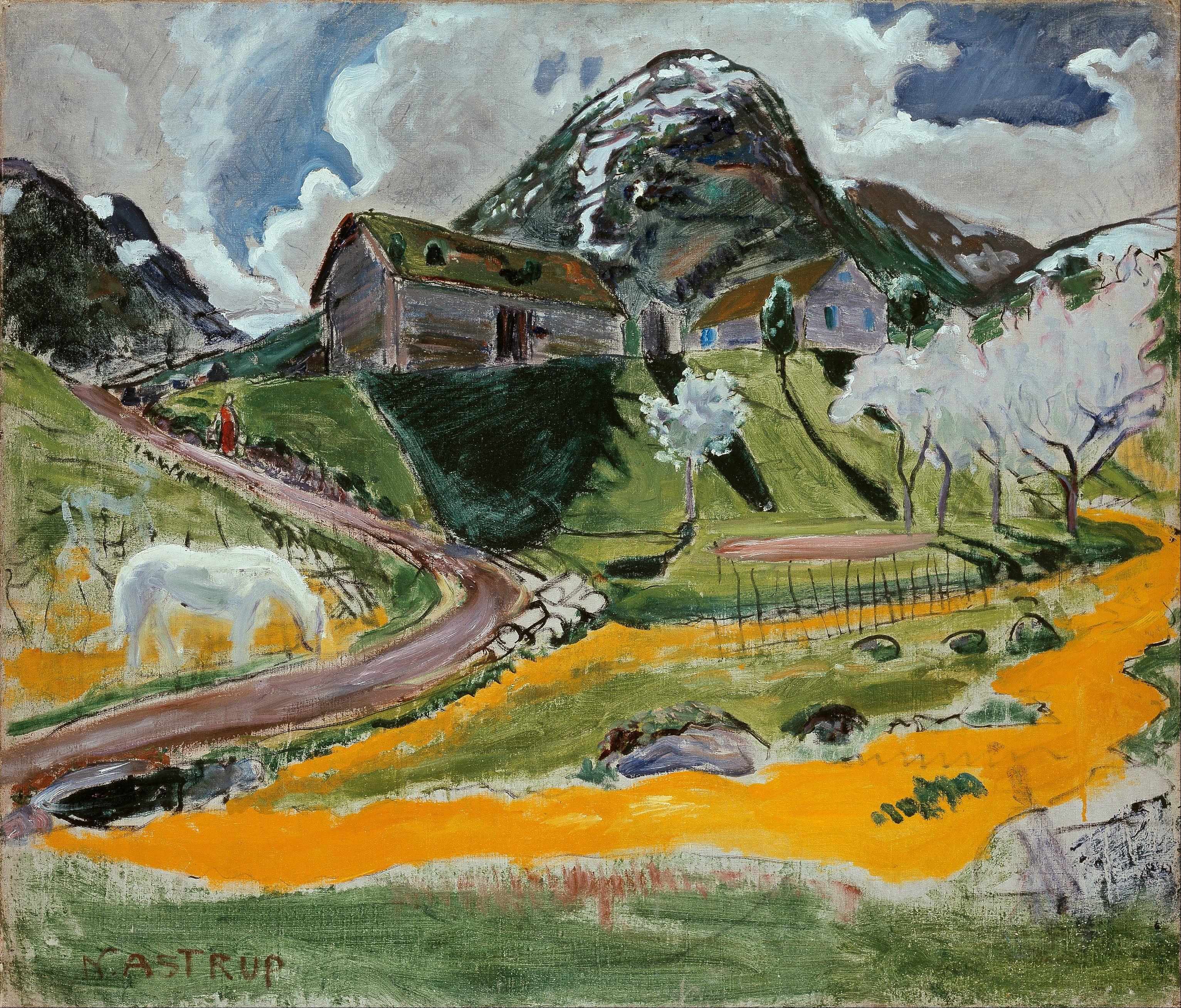 Nikolai_Astrup_-_The_white_Horse_in_Spring_-_Google_Art_Project.jpg (3065×2617)