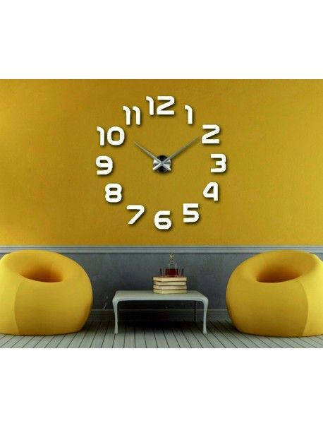... Wohnzimmer Uhren Vergrößern Zurück Große 3D Klebe Wanduhr, Moderne 3D  Uhr An Der Wand ...