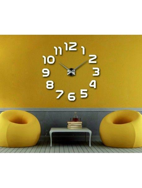 Vergrößern Zurück Große 3D-Klebe Wanduhr, moderne 3D-Uhr an der - moderne wanduhren wohnzimmer