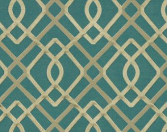 Popular Items For Modern Teal Fabric On Etsy Grey Pinterest - Designer upholstery fabric teal