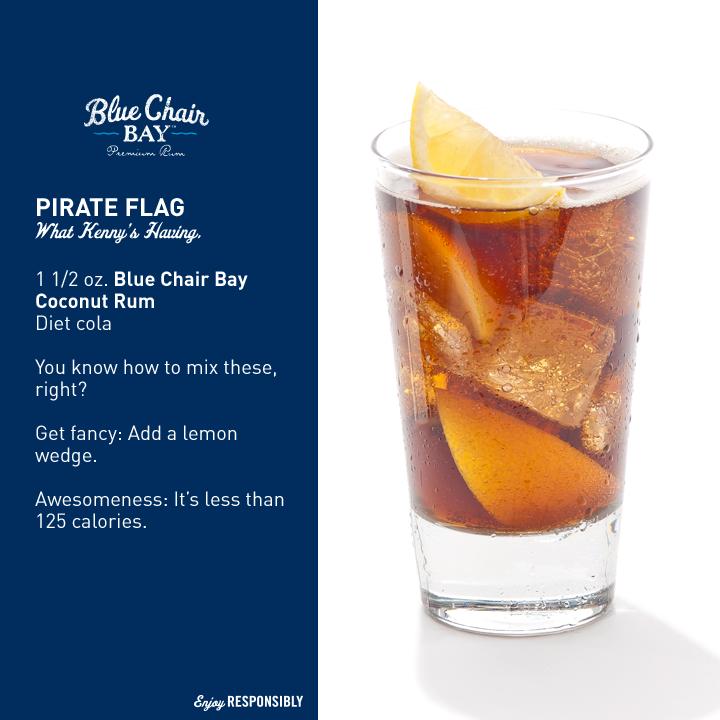 Blue chair bay rum pirate flag drinks pinterest
