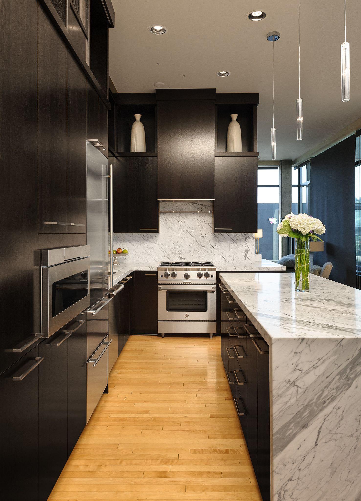 Modern Contemporary Condo Kitchen Remodel In Portland Oregon In 2020 Condo Kitchen Remodel Kitchen Remodel Condo Kitchen