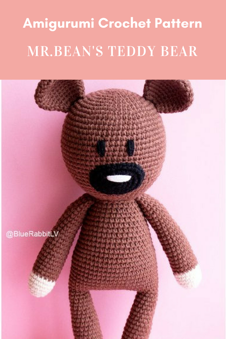 Mrbeans Teddy Bear Amigurumi Crochet Pattern Languages English