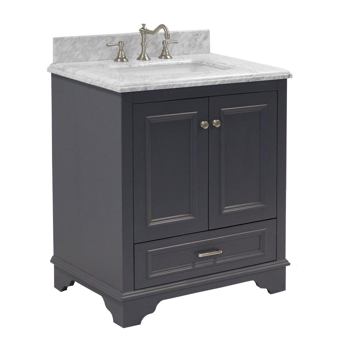 Nantucket 30 Inch Vanity With Carrara Marble Top In 2021 30 Inch Bathroom Vanity 30 Inch Vanity Single Bathroom Vanity