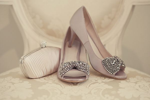 A 1940s Glamour Inspired Wedding With Hints Of Peach Pretty Dusky Pink Weddings Shoes And Debenhams