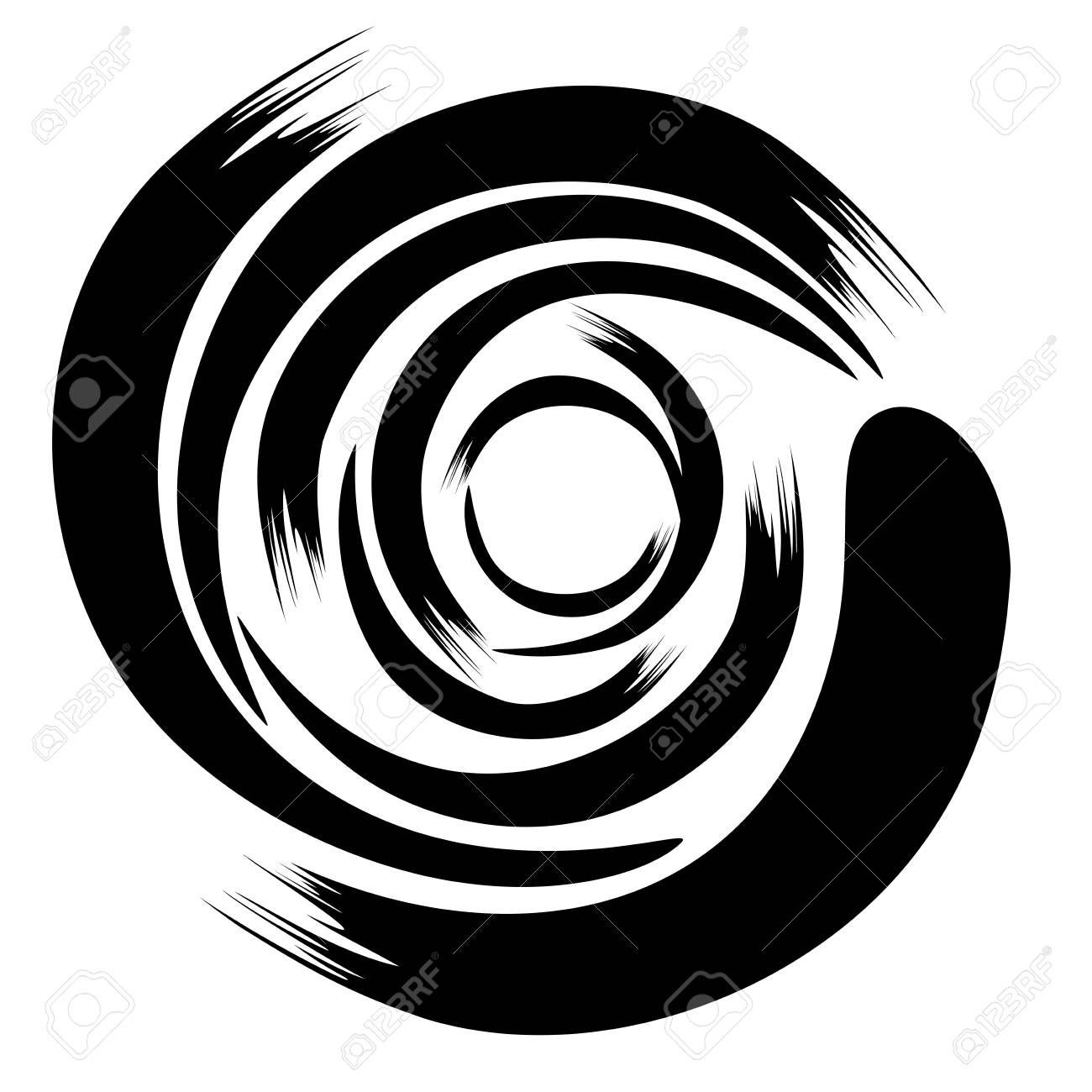 An Abstract Brush Style Vector Hurricane Symbol In Black On A White Isolated Background Sponsored Vector Hur Hurricane Symbol Abstract Photo Definition
