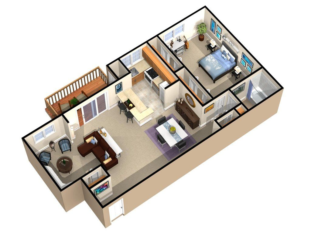 """Apartment Room Builder 1-bedroom, 1-bath """"princeton estates""""pndrgn on deviantart, (c"""