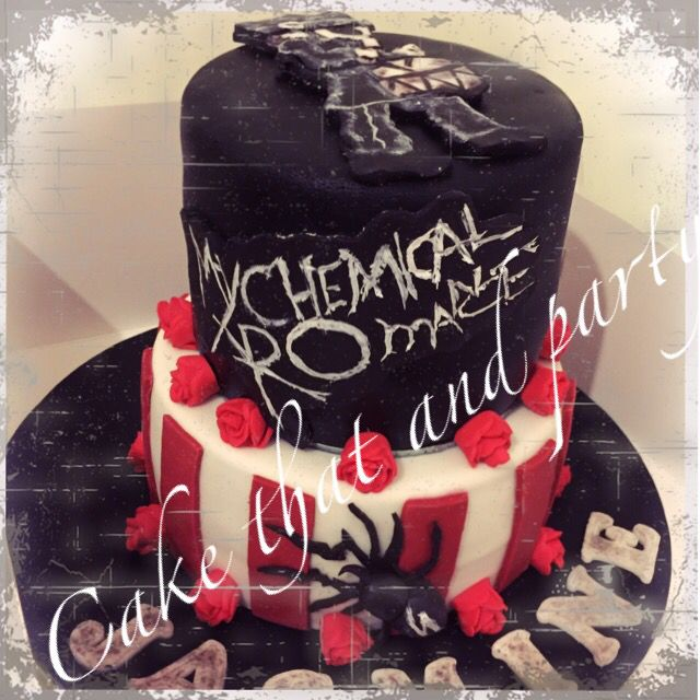 Admirable My Chemical Romance Cake The Black Parade With Images Cake Personalised Birthday Cards Akebfashionlily Jamesorg