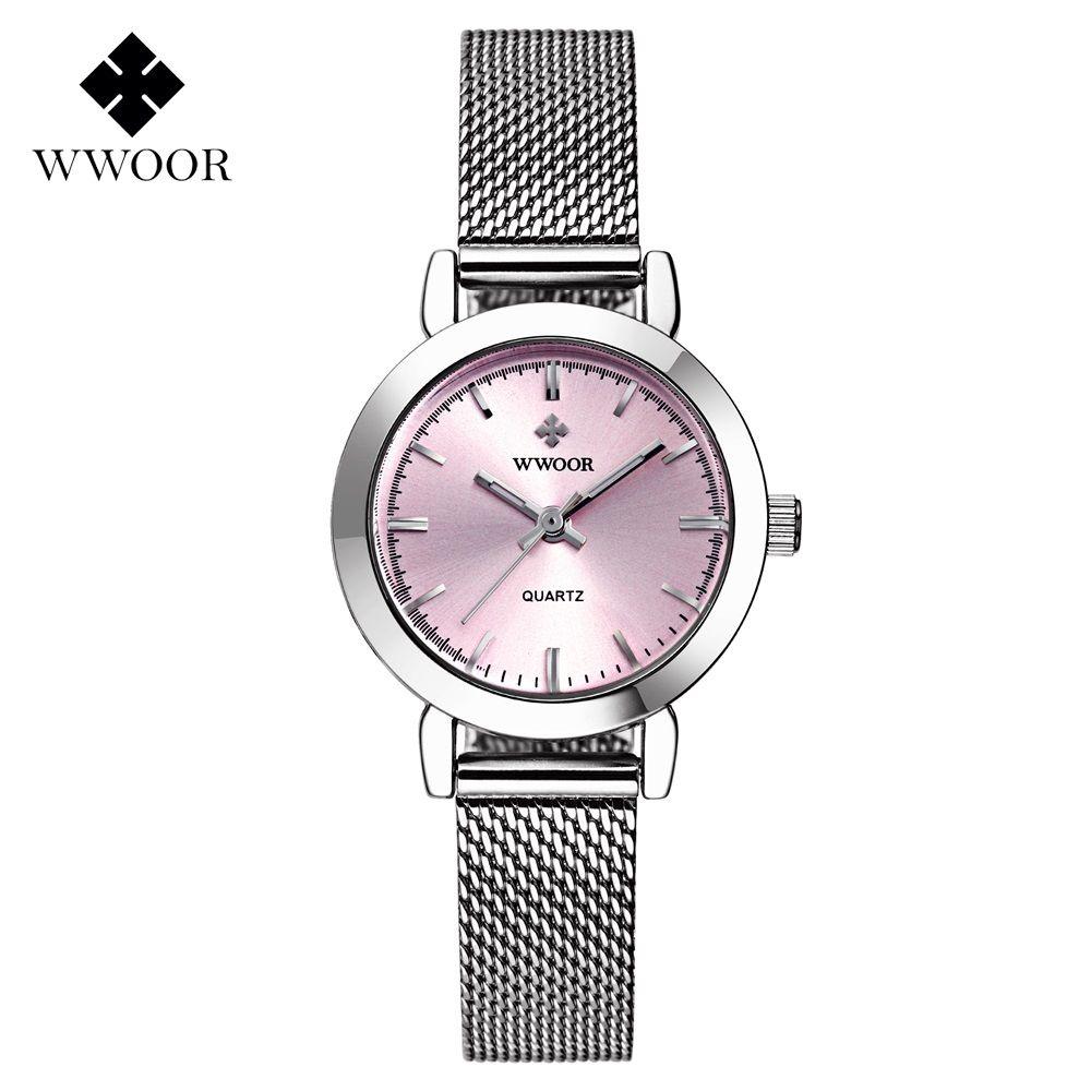 cdbd89dfd15b5 New WWOOR Luxury Women Watch Famous Brands Pink Dial Fashion Design  Bracelet Watches Ladies Women Wristwatches Relogio Femininos