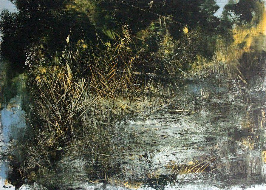 Ai Margini. Dipinto olio su tela di Antonio Pedretti del 2007 quotazione opera d'arte | ARTINGOUT investire in arte