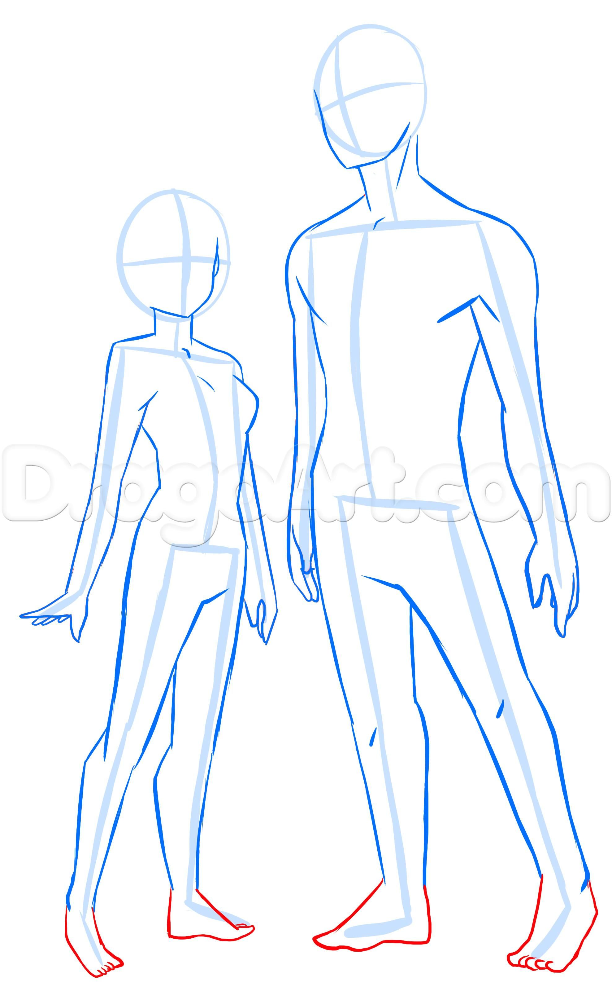 How To Draw Anime Anatomy Step 16 Draw In 2018 Pinterest
