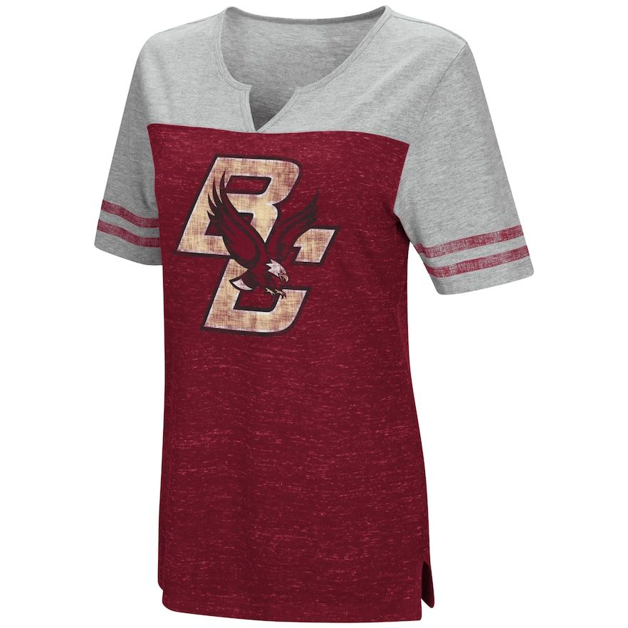 ec7aae5f Women's Campus Heritage Boston College Eagles On The Break Tee, Size:  Small, Med Red