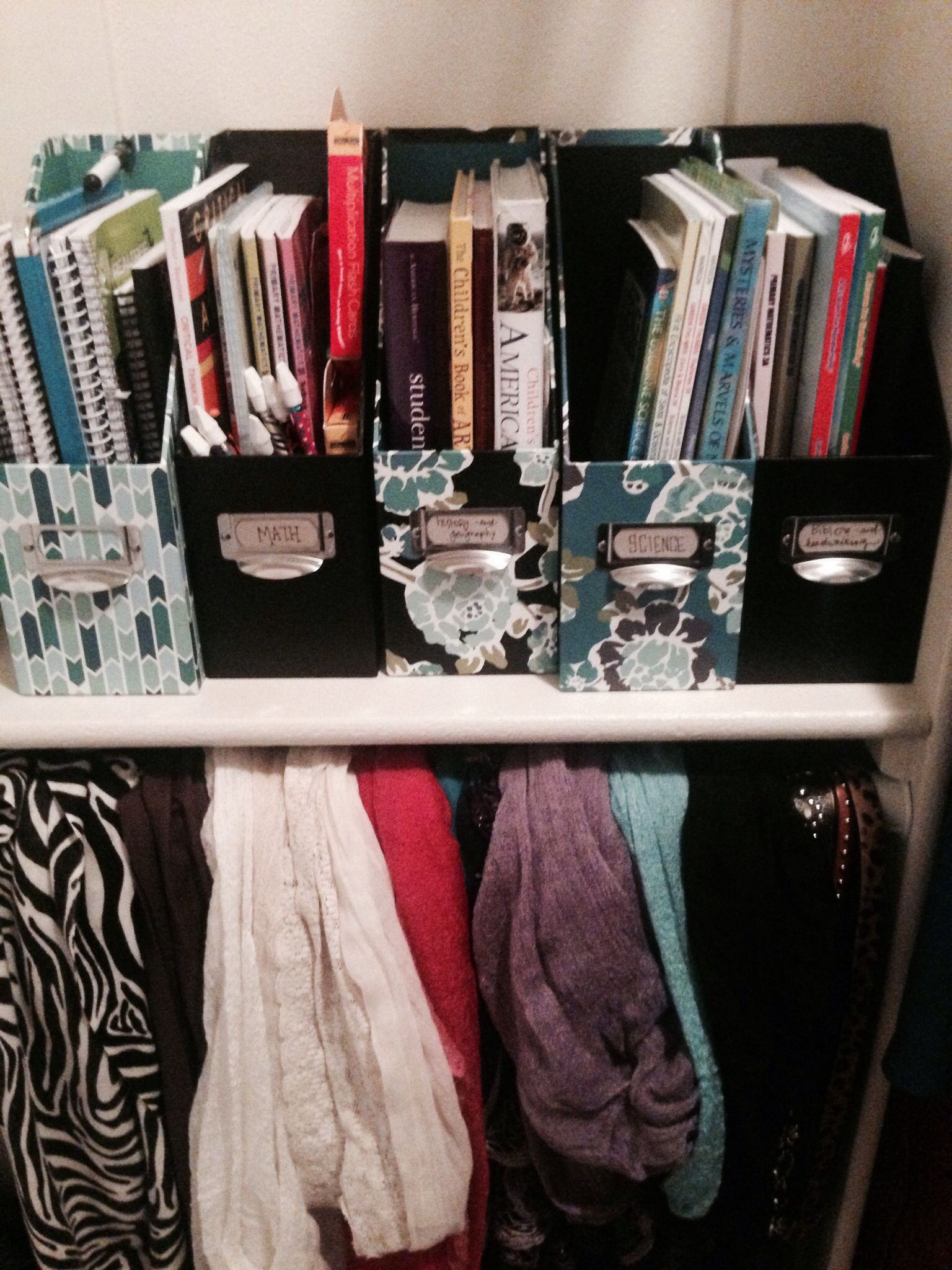 Have all college supplies organized by class