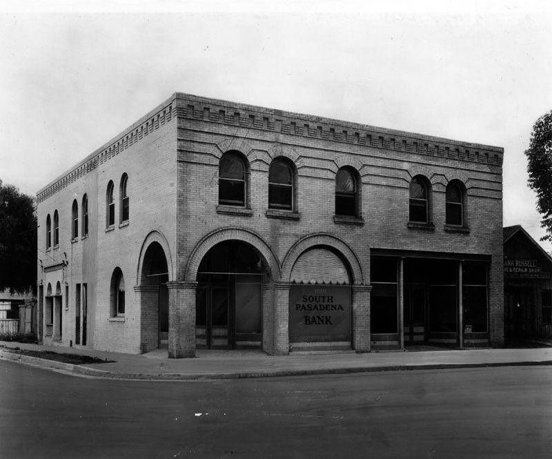 South Pasadena Bank Ca 1900 Now Home To Kaldi S Coffee Shop And Ecco Hair Salon San Gabriel Valley San Gabriel Mountains South Pasadena