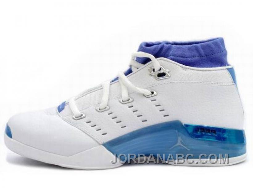 4a82904dd505 Air Jordan Nike 17 XVII Retro Baskets Basses Blanc Bleu
