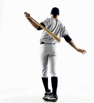 Baseball Player Hitting Home Run From by Patrik Giardino ...