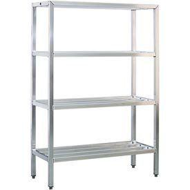 Aluminum Heavy Duty 4 Shelf Rack 24 Wx72 Hx42 L By New Age