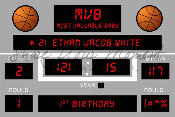 Basketball Birthday Party Backdrop Personalized Digital Design Of Basketball Birthda Backdrops For Parties Basketball Baby Shower Basketball Birthday Parties