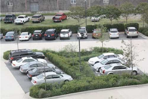 this example of leed platinum green parking incorporates. Black Bedroom Furniture Sets. Home Design Ideas