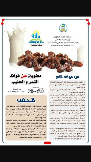 فوائد التمر والحليب Food Health Beef