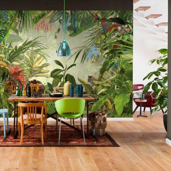 Komar Xxl4 031 Into The Wild Jungle Fotobehang 368x248cm Tropische Decoratie Fotobehang Tropische Huizen