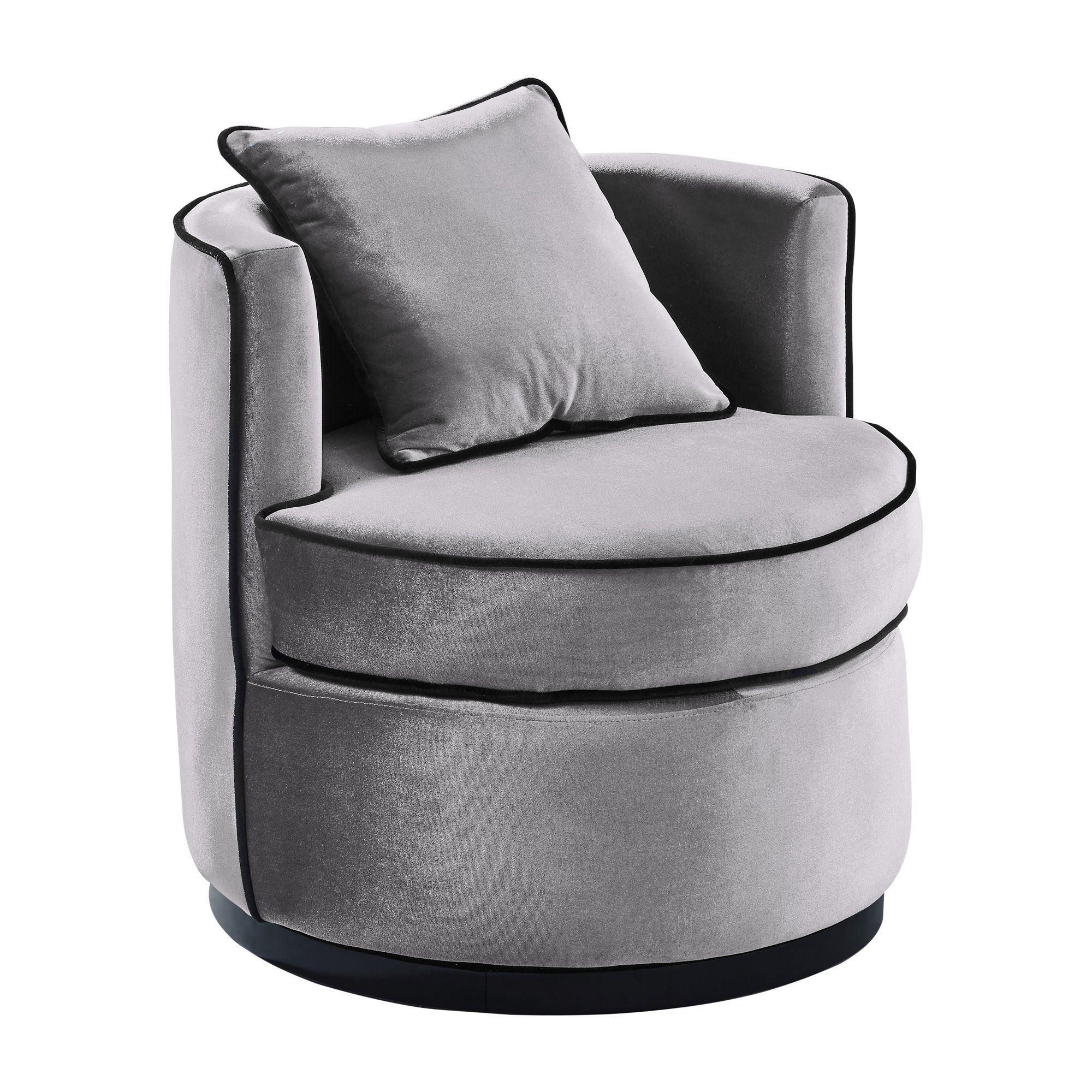 Groovy Armen Living Lctychgr Truly Contemporary Swivel Chair In Creativecarmelina Interior Chair Design Creativecarmelinacom
