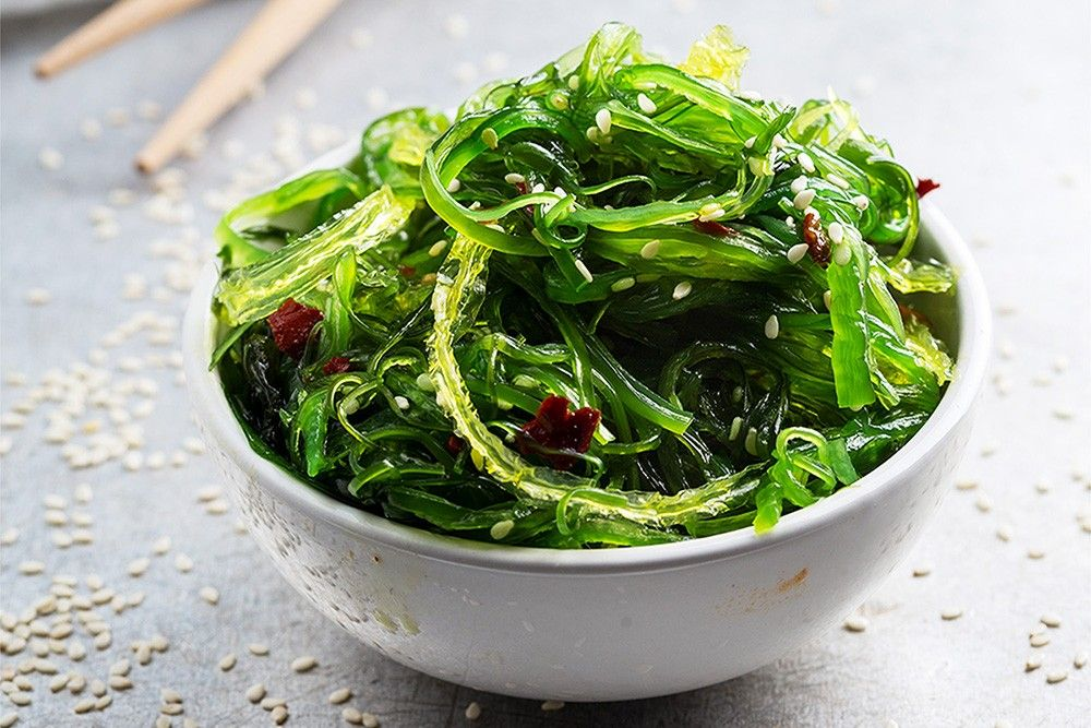 Wakame Japanischer Algensalat Recipe Abendessen Pinterest