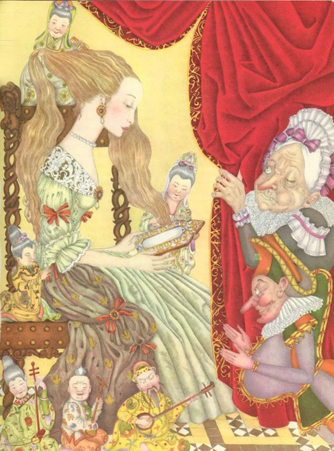 "Adrienne Segur ""Green Snake"" from The Fairy Tale Book"