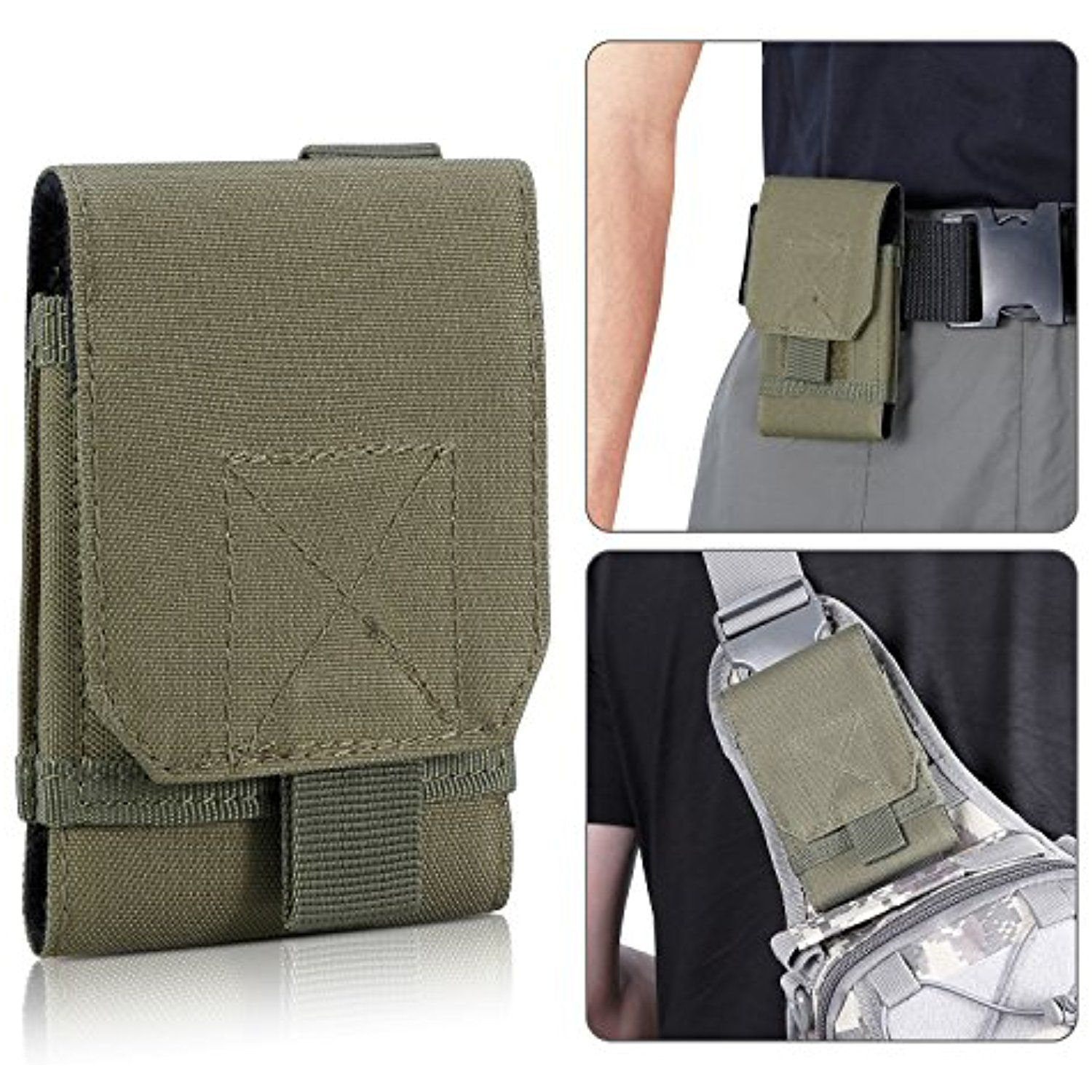 MOLLE Tactical Pouch Compact Utility Gear Outdoor Bag Phone Case for Samsung