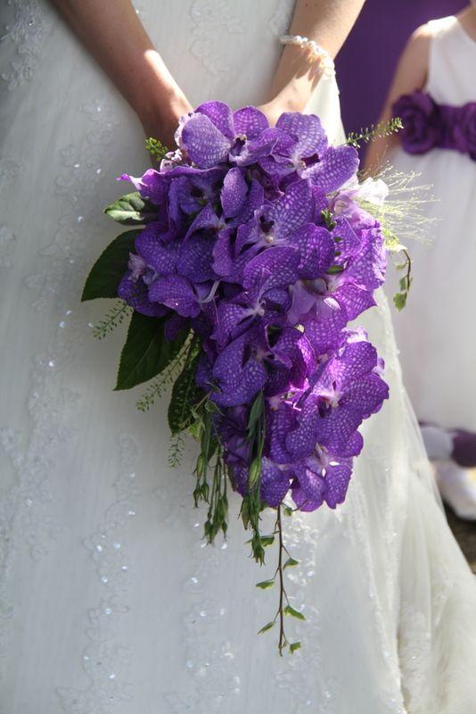 Orchid Wedding Bouquets In Brilliant Colors Purple Wedding