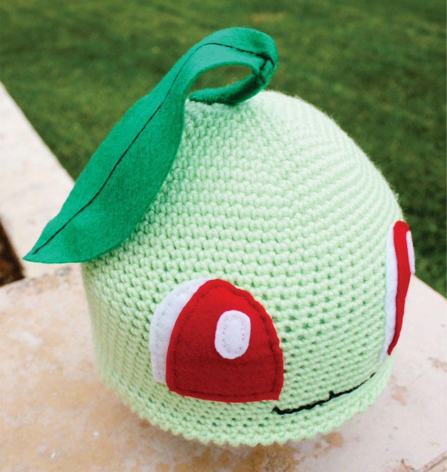 Chikorita Pokemon Inspired Hat With Leaf: Japanese Anime Kawaii ...