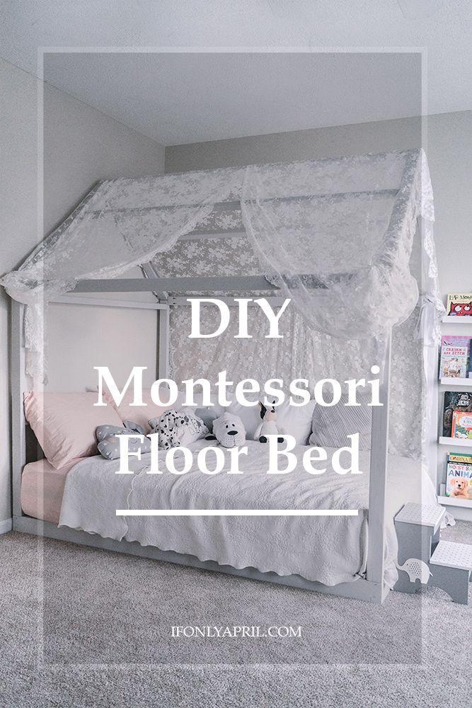 diy montessori floor toddler bed PIN images